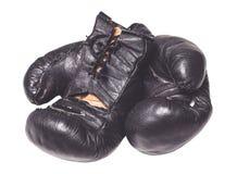gammala boxninghandskar Arkivfoto