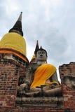 Gammala Buddha statyer Fotografering för Bildbyråer