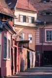 Gammala byggnader i Sibiu, Rumänien Arkivfoto