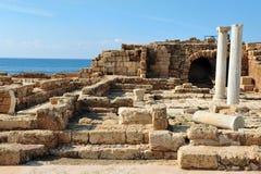Gammala Caesarea i Israel Royaltyfri Foto