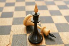 gammala chessmen Royaltyfri Fotografi