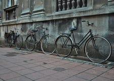 Gammala cyklar Royaltyfria Bilder