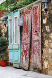 gammala dörrar Royaltyfria Foton