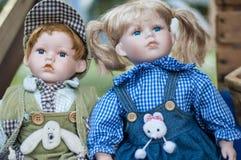 gammala dockor Arkivbilder