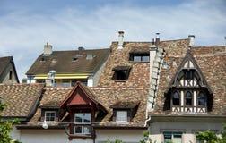 Gammala europeiska hus Arkivbild
