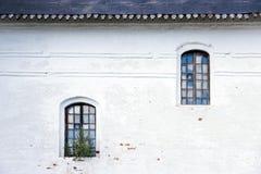 gammala fönster arkivbilder