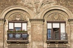 gammala fönster Arkivfoton