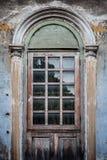 gammala fönster för dörr Royaltyfria Bilder