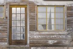 gammala fönster för dörr Royaltyfri Fotografi