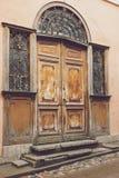 gammala fönster för dörrar Royaltyfri Bild