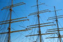 gammala för marin- mast för hempstege piratkopierar nautiska skytteln för shipen för reprephavet uppför trappan Royaltyfri Foto