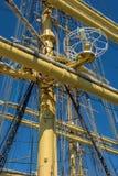 gammala för marin- mast för hempstege piratkopierar nautiska skytteln för shipen för reprephavet uppför trappan Fotografering för Bildbyråer