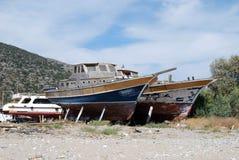 gammala fartyg Arkivfoton