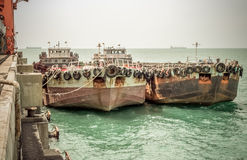 gammala fartyg Arkivfoto