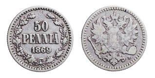 gammala finlandssvenska pengar Arkivbild