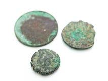 gammala forntida mynt Royaltyfri Fotografi