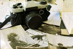 Gammala fotografier Arkivfoto