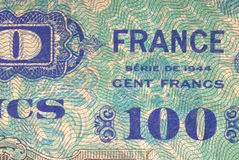 gammala franska pengar Arkivfoton