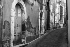 Gammala gator av Rome Arkivbild