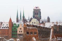 gammala gdansk fördärvar townen Royaltyfri Fotografi