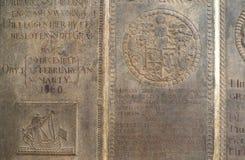 Gammala gravstenar Arkivfoton