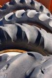 gammala gummihjul Arkivbild