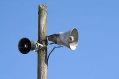 gammala högtalare fotografering för bildbyråer