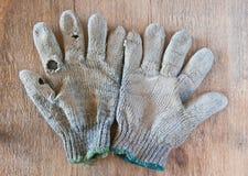 Gammala handskar Royaltyfri Bild
