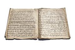 gammala handskrivna anmärkningar Arkivfoton