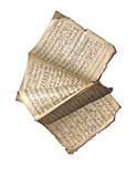 gammala handskrivna anmärkningar Arkivbild