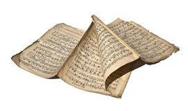 gammala handskrivna anmärkningar Royaltyfri Fotografi