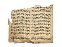 gammala handskrivna anmärkningar Arkivbilder