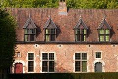 Gammala historiska hus Arkivfoton