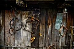 gammala hjälpmedel för lantgård Arkivfoton