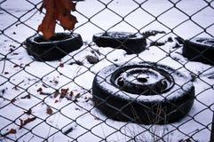 gammala hjul Royaltyfri Bild