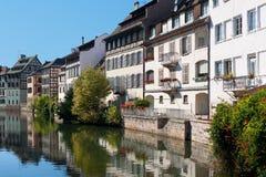 Gammala hus av Strasbourg Arkivbilder