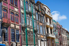 Gammala hus i i stadens centrum Porto Arkivfoto