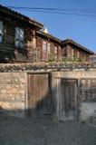 Gammala hus i Nessebar. Bulgarien Arkivbilder