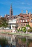 Gammala hus i Strasbourg Arkivfoto
