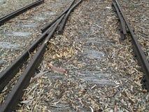 gammala järnväg spår royaltyfria foton