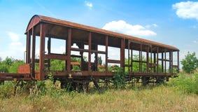 gammala järnväg vagnar Royaltyfri Foto