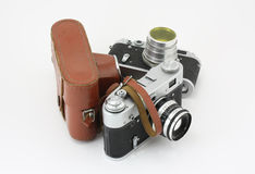 gammala kameror Arkivbilder