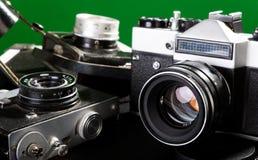 gammala kameror Royaltyfri Fotografi