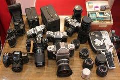 Gammala kameror Arkivbild