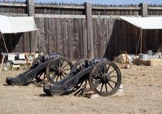 Gammala kanoner i forten Ross Royaltyfri Fotografi