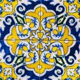 Gammala keramiska belägger med tegel Fotografering för Bildbyråer