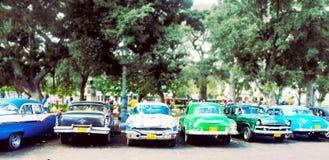 Gammala klassikerbilar i Havana, Kuba Royaltyfri Fotografi