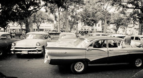 Gammala klassikerbilar i Havana, Kuba Royaltyfri Bild