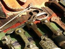 Gammala knivar Arkivbild