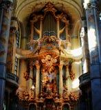 gammala kyrkliga dresden Frauenkirche Fotografering för Bildbyråer